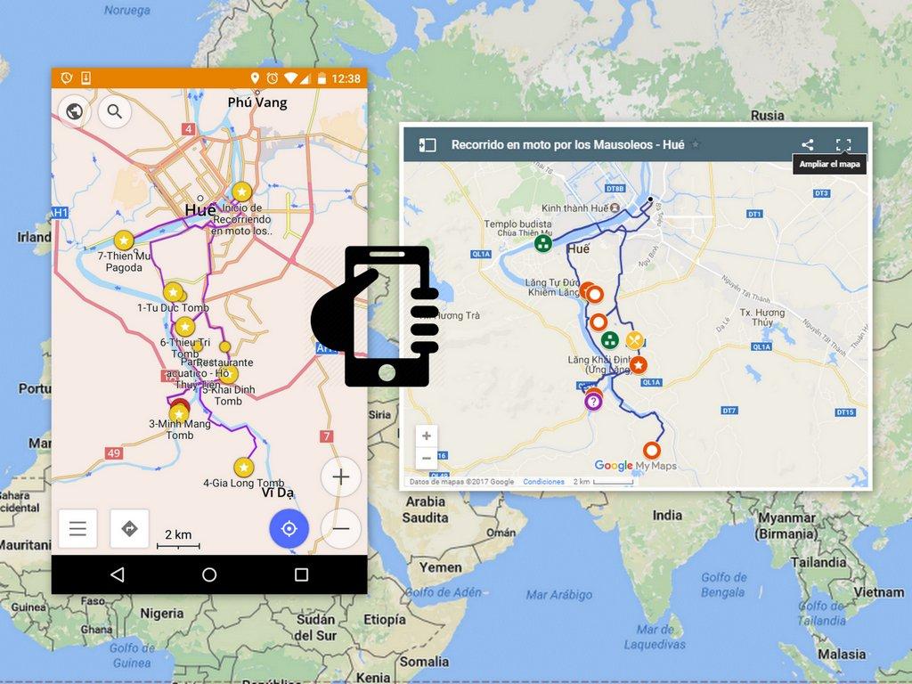 google maps trip offline | mapas google viaje offline