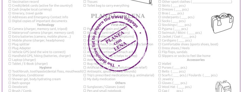 Travel Checklist Pack Your Bag  More Than  Things To Check