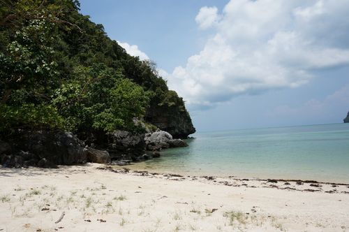 Playa desierta en Ko Wua Talap | Parque Nacional Marino Mu Ko Ang Thong - Tailandia