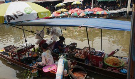 Mercados Flotantes Bangkok, Tailandia