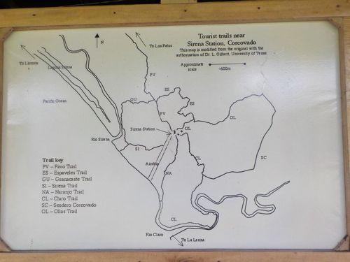 Mapa Parque Nacional de Corcovado