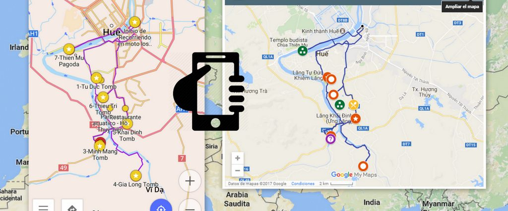 Google maps for your trip and check them while offline