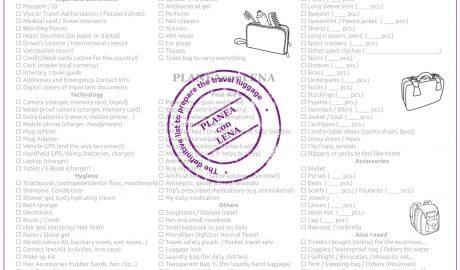 Imagen Travel Checklist