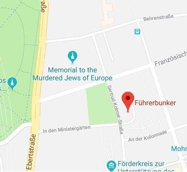Localización del Führerbunker (bunker de Hitler) | Berlin