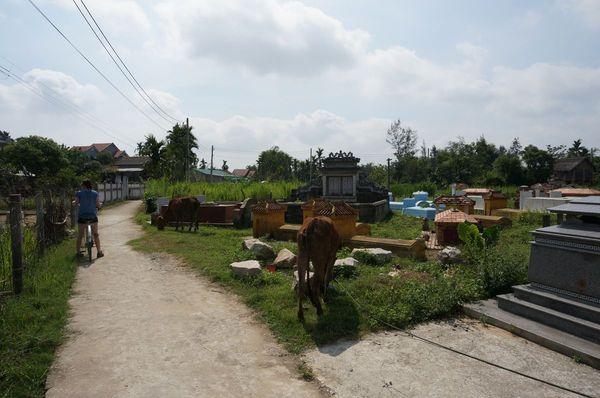 Pequeño cementerio en Cam Kim - Hoi An
