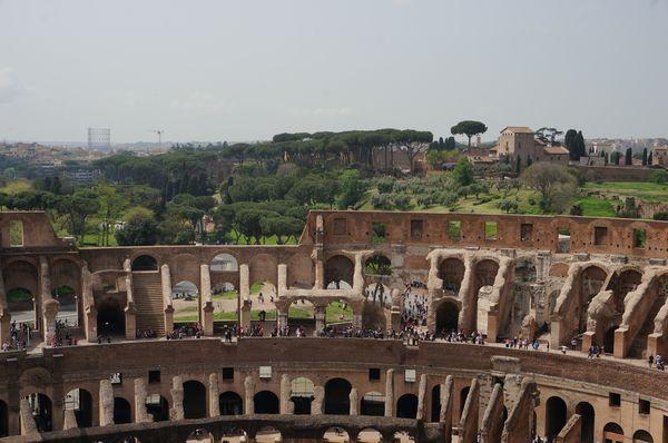 Vistas al Palatino desde la última planta del Coliseo | Consejos para viajar a Roma