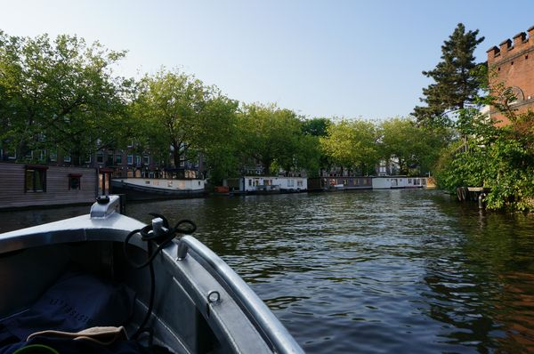 Sailing on the canals of Amsterdam