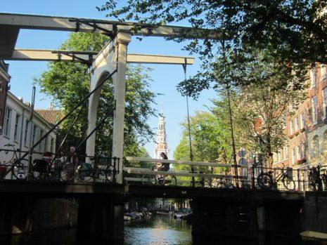 Beautiful bridge in Amsterdam