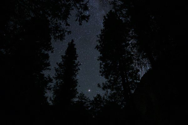 Cielo estrellado en el Valle del Yosemite - Consejos para viajar a EEUU
