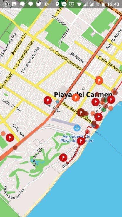 Playa del Carmen - Mapa