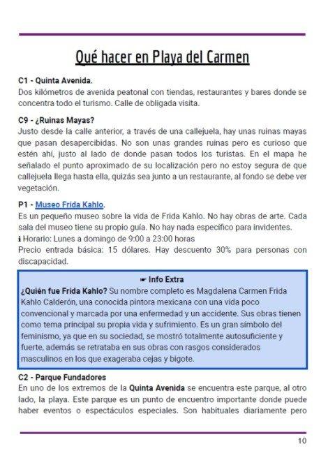 Itinerario en pdf   Una semana en Riviera Maya