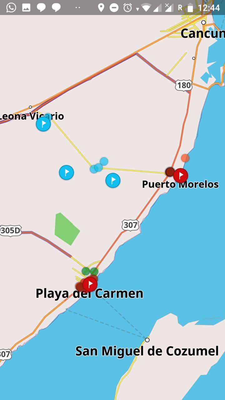 Una semana en Riviera Maya - Mapa