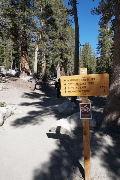Cartel de ruta en Mammoth Lakes