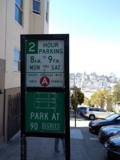 Señal de tráfico, aparcamiento | Conducir en EEUU
