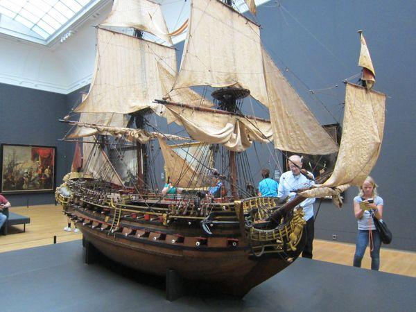 Mockup ship - Maqueta de barco, Rijksmuseum | 5 Museos importantes de Amsterdam