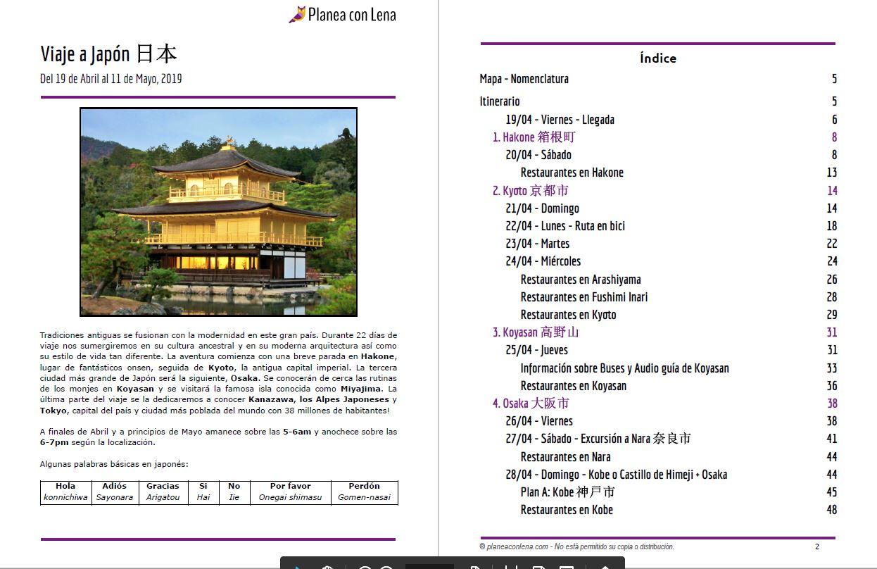 Itinerario | 3 semanas en Japón