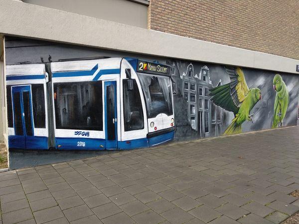 Mural del tranvía 2 | Tarjetas de transporte en Amsterdam